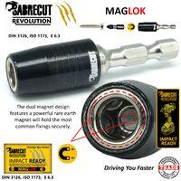2pcs SabreCut 60mm Magnetic Impact Bit Holder - SCIMSH1458_1