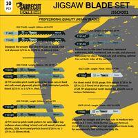 10pcs SabreCut Jigsaw Blade Set - JSSCK001