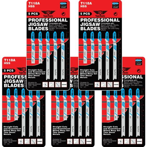 25pcs TopsTools T118A Jigsaw Blades - JSTT118A_5