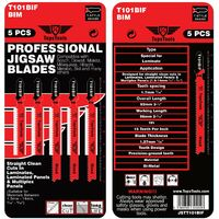 5pcs TopsTools T101BIF Jigsaw Blades - JSTT101BIF_1