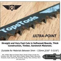 5pcs TopsTools T744D Extra Long Jigsaw Blades - JSTT744D