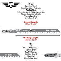 15pcs TopsTools T344D 132mm Long Jigsaw Blades - JSTTX344D_3