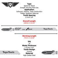25pcs TopsTools T101BR Jigsaw Blades - JSTT101BR_5