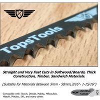 25pcs TopsTools T144D Jigsaw Blades - JSTT144D_5