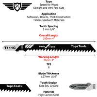 25pcs TopsTools T111C Jigsaw Blades - JSTT111C_5