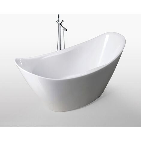 Bañera Independiente 172x72cm Wanda+grifo Diseño Moderno e Innovador