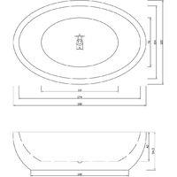 Bañera Independiente 190x120cm Tiffany+grifo Diseño Moderno e Innovador