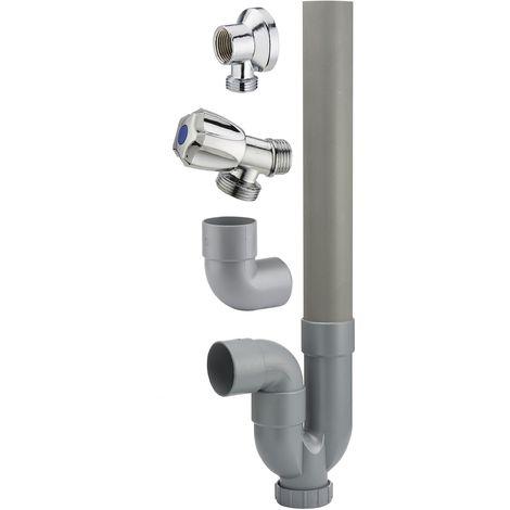 Kit pour machine à laver: robinet + applique + siphon. NOYON & THIEBAULT