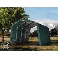 Tente de pâturage robuste 3,3x9,6 m étanche bâche PVC env. 550g/m² abri pour chevaux poneys écurie ouverte, vert