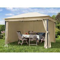 Tonnelle de jardin 3x4 m pavillon, bâche de toit env. 180g/m² tente de jardin champagne