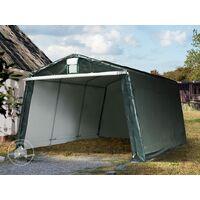 3,3 x 4,8 m garage, abri de stockage, PE env. 260 g/m², tente garage vert foncé