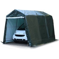 2,4 x 3,6 m garage, abri de stockage, PE env. 260 g/m², tente garage vert foncé