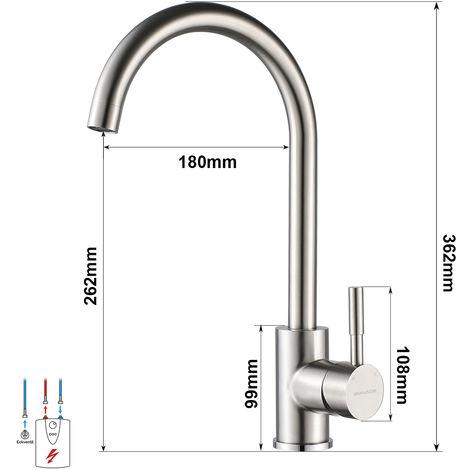 Niederdruckarmatur Einhebel Küchenarmatur Spültischarmatur Küchen Wasserhahn