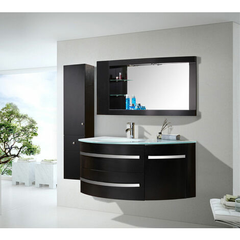 BATHROOM FURNITURE New Model BLACK AMBASSADOR Cabinet 120 x 56 x h 56 Side Cabinet 30 x 35 x h 140