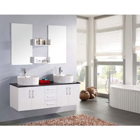 BATHROOM FURNITURE New Model LION white with black shelf