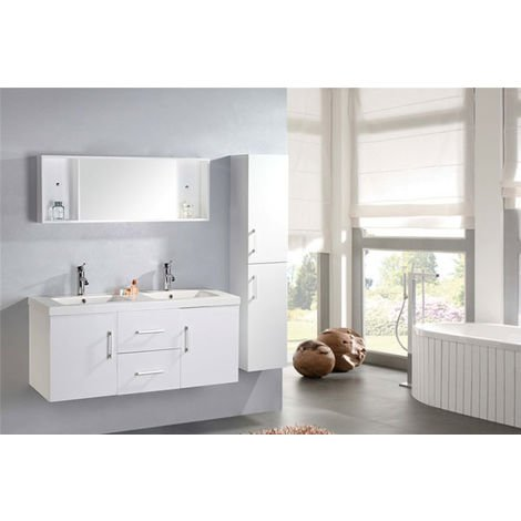 "BATHROOM FURNITURE Model ""WHITE MALIBU'"" Cabinet 120 x 46 x h 52"
