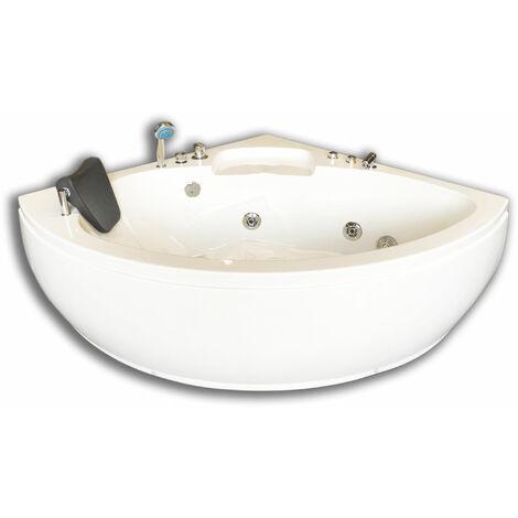 CORNER WHIRLPOOL BATH TUB MODEL DUBAI 135 X 135 cm