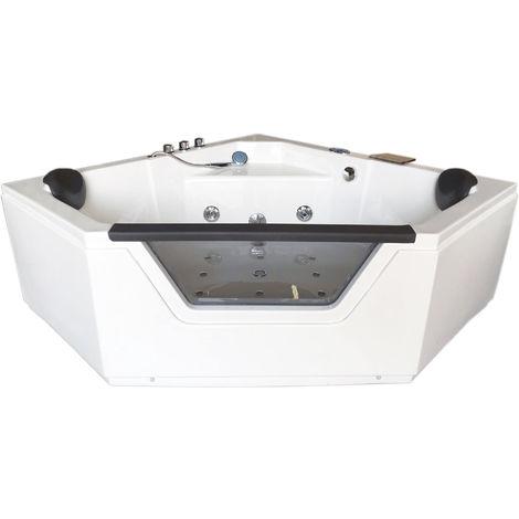 CORNER WHIRLPOOL BATH TUB MODEL IBIZA 150 X 150 cm h 75