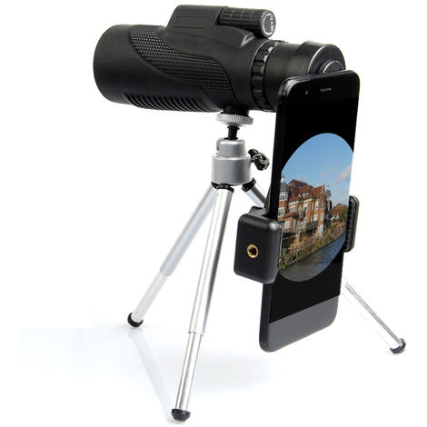 40x60 HD zoom optical monocular telescope and mini tripod night vision for camping