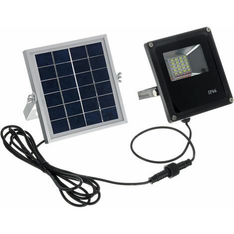 Remote Control + Light Control + Timing Led Solar Power Floodlight, Outdoor Street Light Waterproof Security Spotlight