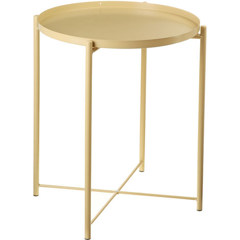 Side Table Metal Coffee Table 53cmx42cm Gold