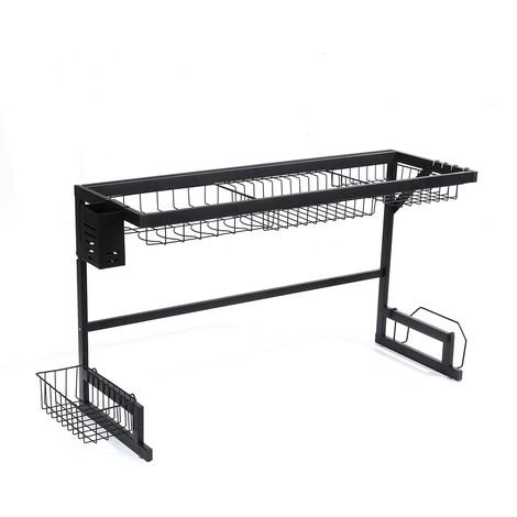 Dish Drainer Covered Kitchen Shelf 85x51x31cm Stainless Steel