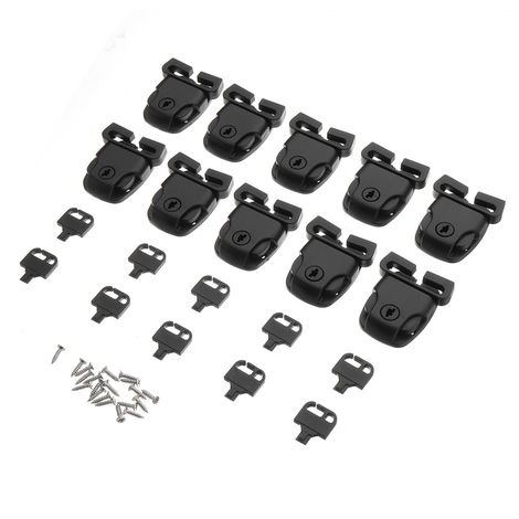 10pcs Spa Hot Tub Broken Cover Latch Lock Clip Kit with Key and Hardware with Screw