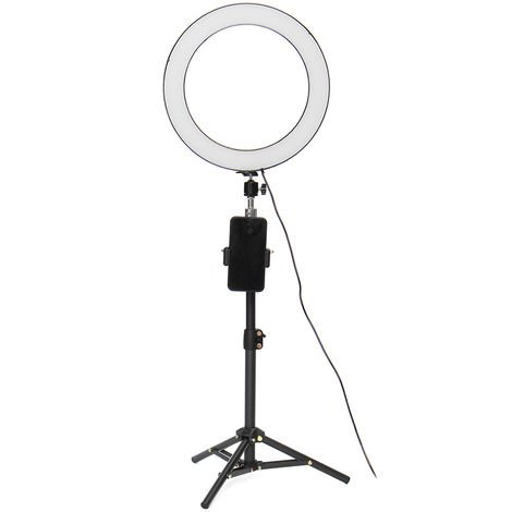 32cm Beauty Makeup Lamp - 60cm Selfie bluetooth Remote Control - 3 Lights Tripod Phone holder