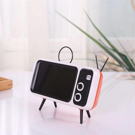Orange retro style cell phone holder