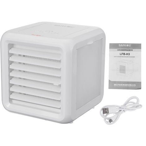 5W Mini Portable Air Conditioner Fan USB Port LED 7 Colors With 2 Water Tanks