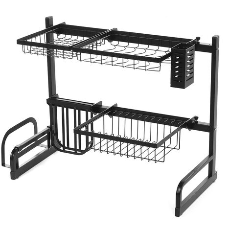 65-95CM Sink Rack Dish Plate Drainer Cutlery Drainage Kitchen Shelf