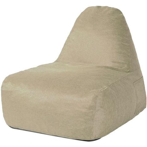 Sofa Chair Cotton With Filling Foam Khaki 105X77X73cm