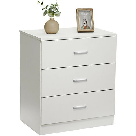 Chest Of Drawers 3 Drawers Clothes Storage Cabinets Unit 60x40x69cm White