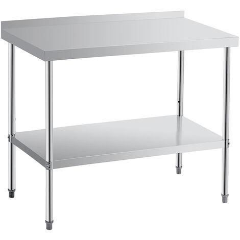 Kitchen Work Bench 60x90x85cm Silver Table Workstation Stainless Steel