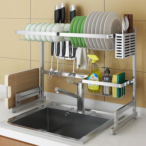 65cm Stainless Steel Over Sink Dish Drying Rack Holder Storage Shelf