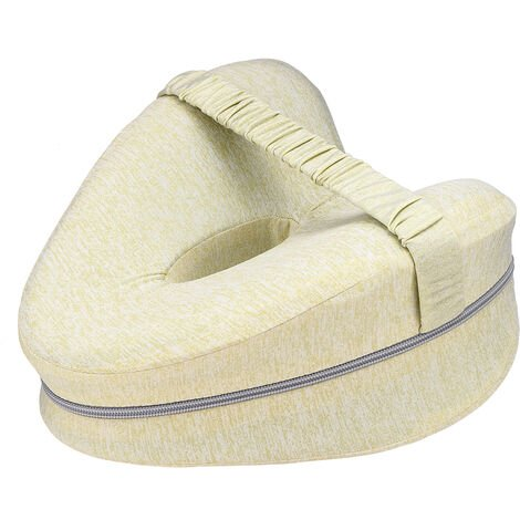 Memory Foam Leg Pillow Cushion Pad Relieve Knees Pain Foot Relax Washable yellow 25x23x13cm