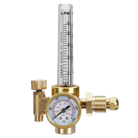 Argon CO2 Mig Tig Flow Meter Pressure Regulator Welding Weld Gauge Gas Welder LO