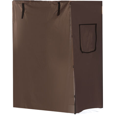Bird Parrot Cage Cover Breathable 130X60X97cm Coffee