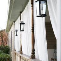Outdoor Wedding Bathroom Garden Mosquito Net Polyester Pink Curtain Panel
