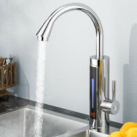 3300W 360 ° Electric LED Faucet Immediately heats the water heater connection