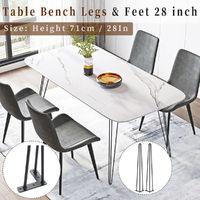 "4pcs 28 ""/ 71cm Hairpin Table Legs"