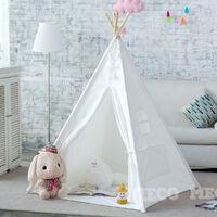 Play Tent Kids Teepee Tent Cotton Canvas Home Garden Indoor Outdoor