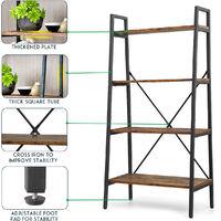 Ladder Shelf 4-Tier Bookcase 129*35*64cm