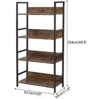 4-Tier 124*30*63.5cm Bookshelf Plant Flower Stand Storage Ladder Shelf