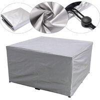 Large PVC Outdoor Garden Furniture Covers Waterproof Patio Rattan Table Cube 218x218x90cm