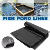 13ft 0.35mm Garden Pool PVC Pond Liner Membrane Reinforced Landscaping 4Mx4M Black