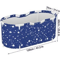 Foldable Bathtub 120x70x60cm Insulation Bucket Indoor Outdoor Adult Spa Thick and Warm