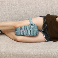 Memory Foam Leg Pillow Cushion Pad Relieve Knees Pain Foot Relax Washable lightblue 25x23x13cm