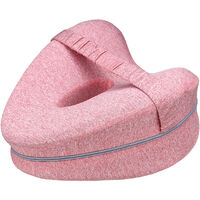 Memory Foam Leg Pillow Cushion Pad Relieve Knees Pain Foot Relax Washable cherryred 25x23x13cm