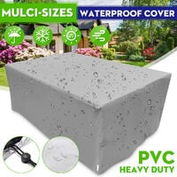 Outdoor Garden Furniture Cover Waterproof Table Cover silver 90x90x90cm